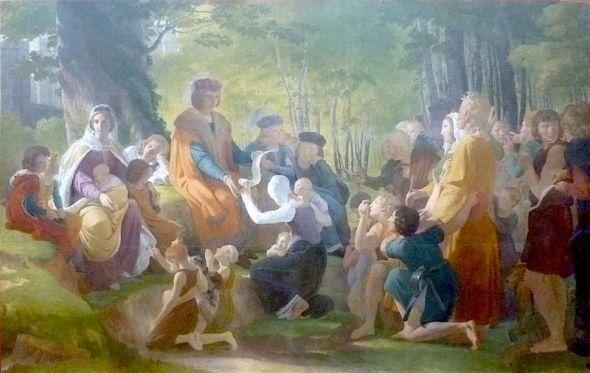 Saint-Louis-rendant-la-justice-sous-le-chêne-de-Vincennes-pn-guerin
