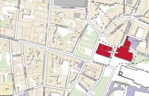 Le quartier où se déroulent les événements de Saint-Denis