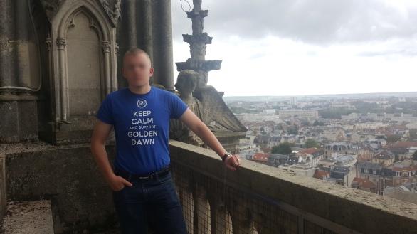 Au sommet de la cathédrale de Reims